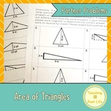 Area of Triangles Partner Page