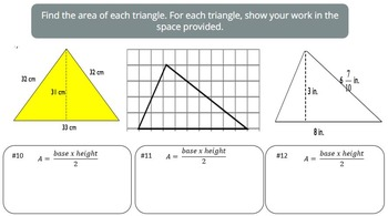 Area of Triangles (PowerPoint Lesson and Printables!)