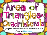Area of Triangles, Quadrilaterals, and Compound Figures Ta