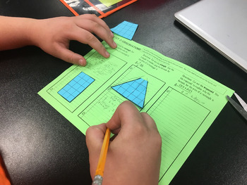 Area of Triangles, Rectangles, and Trapezoids Lesson (Discovery Lab)