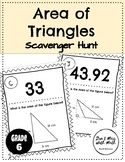 Area of Triangles - Scavenger Hunt CCSS 6.G.A.1 & TEKs 6.8D