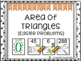 Area of Triangles - Scavenger Hunt (Easier Problems)