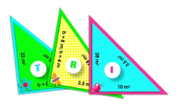 Area of Triangles | Set of 3 Spring-Themed, Triangle-Shaped Jumbo Puzzles