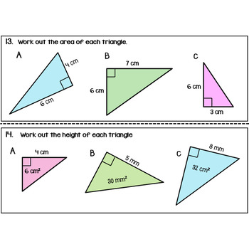 Triangles Area Task Cards
