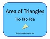 Area of Triangles Tic-Tac-Toe
