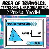Area of Triangles Trapezoids and Quadrilaterals Digital Ta