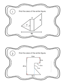 Area of Triangles and Compound Figures - 6.G.A.1