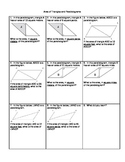 Area of Triangles and Parallelograms Homework