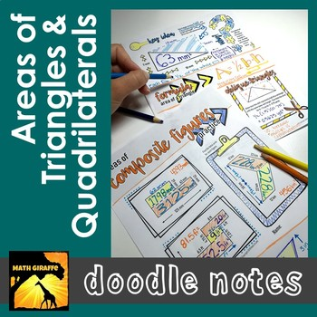 Area of Triangles and Quadrilaterals Doodle Notes Set