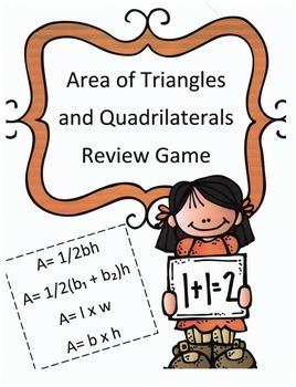 Area of Triangles and Quadrilaterals Review Game