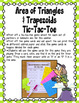 Area of Triangles and Trapezoids Math Stations