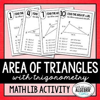 Area of Triangles (using Trigonometry) Math Lib