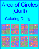 """AREA: CIRCLES - COLORING ACTIVITY - """"QUILT AND PI DAY"""" DESIGN"""