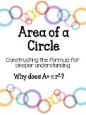 Area of a Circle: Formula activity