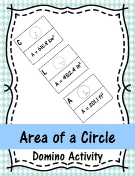 Area of a Circle Domino Activity