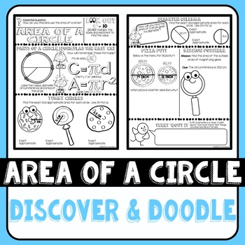 Area of a Circle Discover & Doodle