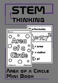 Area of a Circle Mini Foldable Book, Middle, High School Math, Geometry