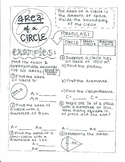 Area of a Circle Notes
