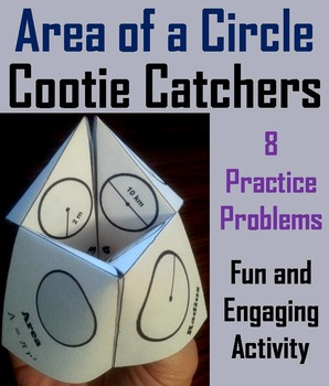 Area of a Circle Practice Activity (Scoot Unit Review Game)