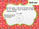 Area of a Circle Scavenger Hunt