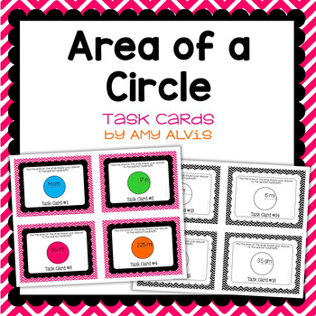Area of a Circle Task Cards