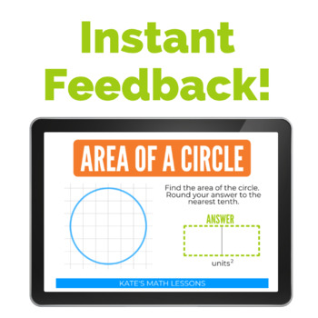 Area of a Circle Task Cards and Boom Cards