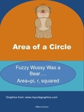 Area of a Circle Teddy Bear and Rhyme