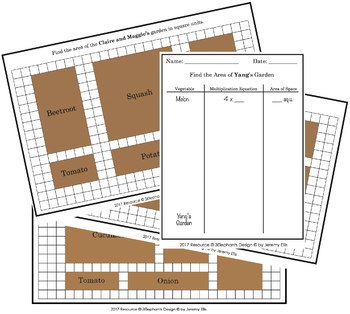 Area of a Garden Challenge Cards