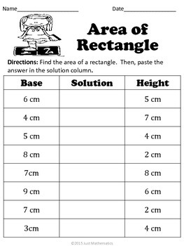 Area of a Rectangle