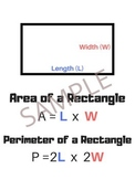 Area of a Rectangle Poster - Anchor Chart