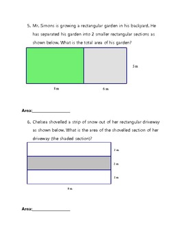 Area of a Rectangle Worksheet