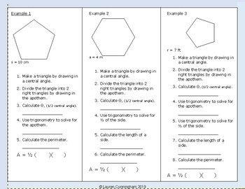 Area of a Regular Polygon Notes