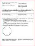 Area of a Regular Polygon Spring 2013 - Geometry (Editable)