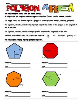 Area of  a Regular Polygon