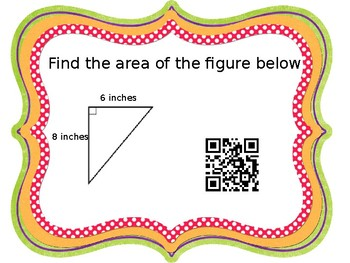Area of a Right Triangle Task Cards QR Codes