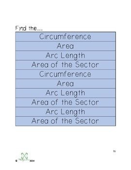 Area of a Sector and Arc Length