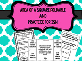 Area of a Square Foldable and Practice for Interactive Notebooks