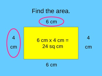 Area of a Square, Rectangle, and Right Triangle PowerPoint