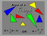 Area of a Triangle -- Engaging Practice!  PowerPoint