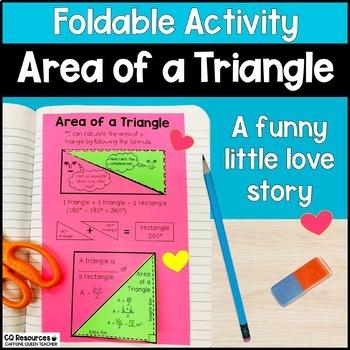 Area of a Triangle Foldable With Formula Options