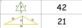 Area of a Triangle Match