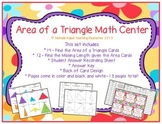 Area of a Triangle - Math Center - Find the Missing Length