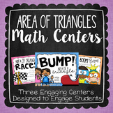 Area of a Triangle Math Centers {Math Races, Bump, and Pop! Boom! Bam!}
