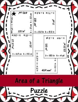 Area of a Triangle Puzzle