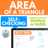 Area of a Triangle Number Tiles Digital Activity for Googl