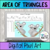 Area of a Triangle Digital Activity Pixel Art Koalas Self-