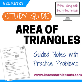 Area of a Triangle Study Guide