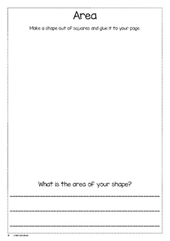 Area of a shape ( year 1)