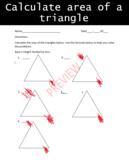 Area of a triangle homework
