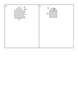 Area of an Irregular Shape Worksheet